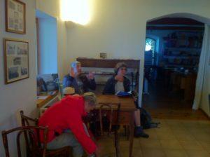 Pause à la cafèt de la Rocha